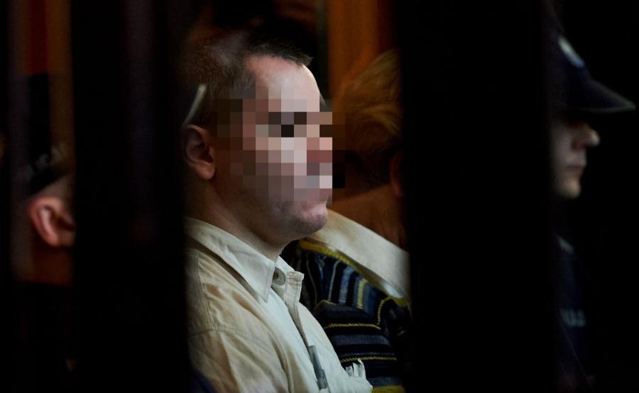 Oskarżony Samir S., na sali Sądu Okręgowego w Gdańsku