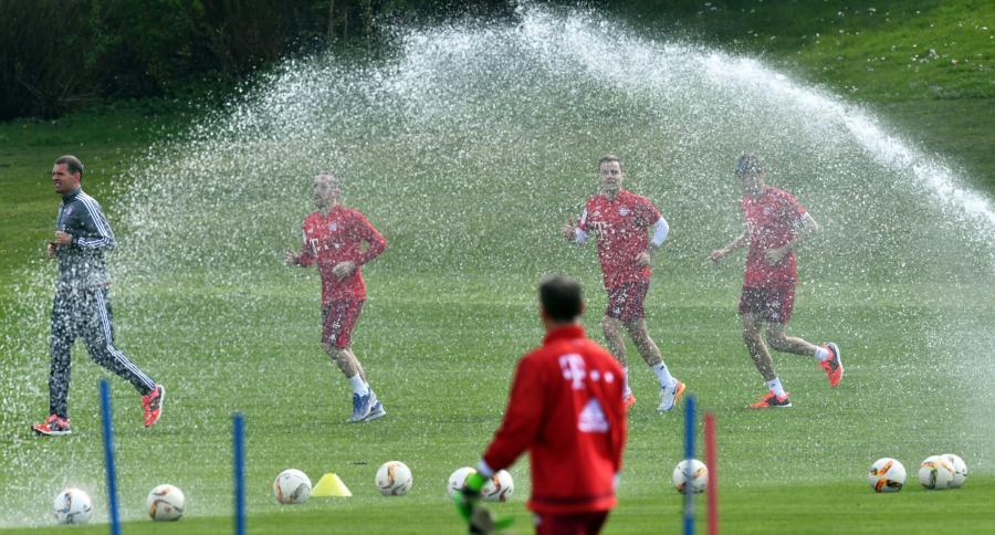 Trening piłkarzy Bayernu