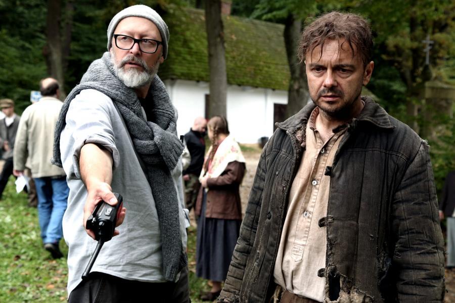 Wojciech Smarzowski i Arkadiusz Jakubik na planie filmu \