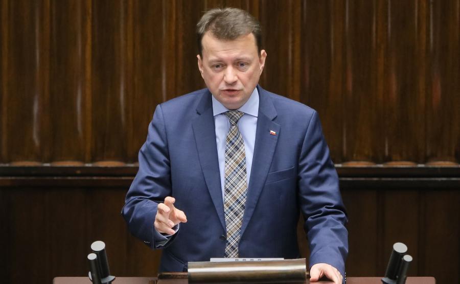 Minister spraw wewnętrznych i administracji Mariusz Błaszczak,
