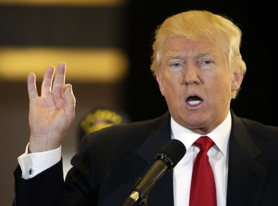 Donald Trump na konferencji w Nowym Jorku
