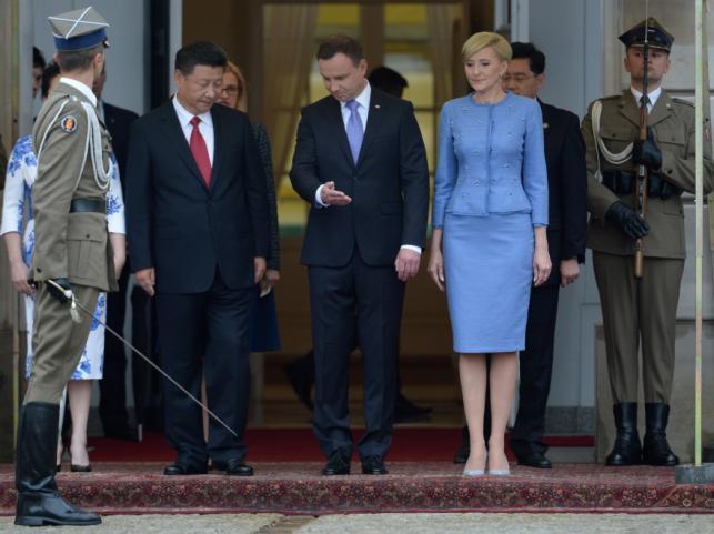 Xi Jinping, Andrzej Duda i Agata Kornhauser-Duda