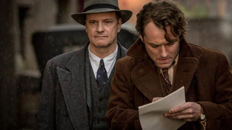 Colin Firth i Jude Law na planie filmu \