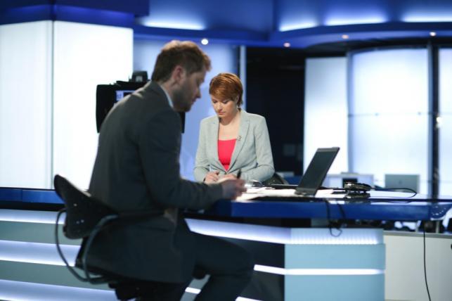 Katarzyna Werner i Jaroslaw Kuzniar w TVN24