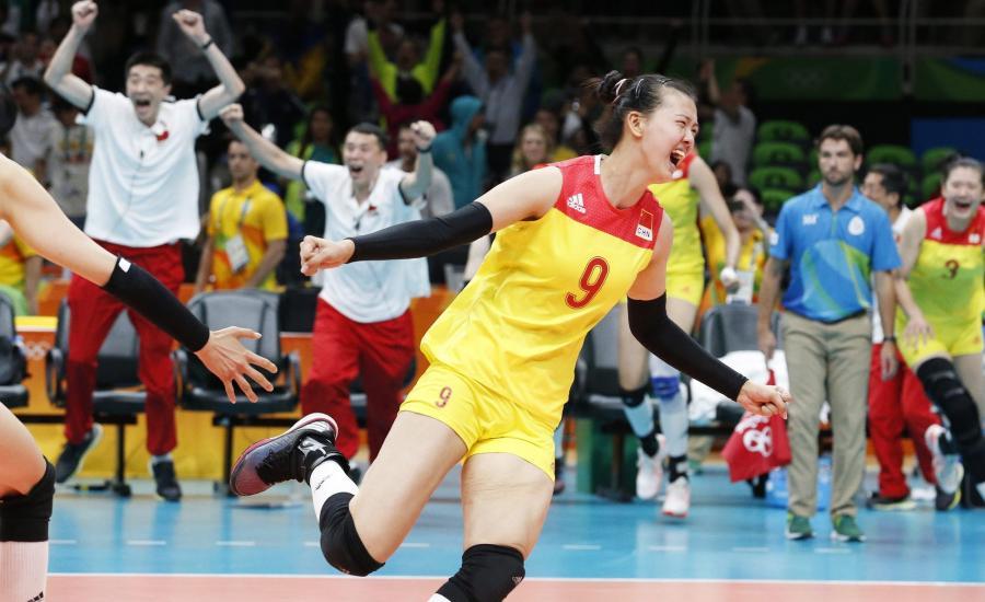 Radość Chinek po zwycięstwie