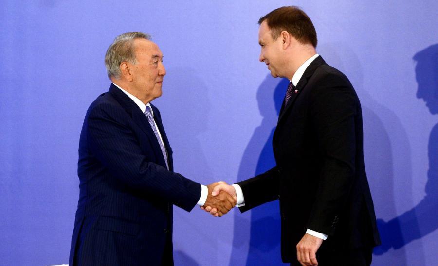 Nursułtan Nazarbajew i Andrzej Duda