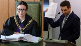 Sędzia Alicja Fronczyk, wiceminister sprawiedliwości Patryk Jaki
