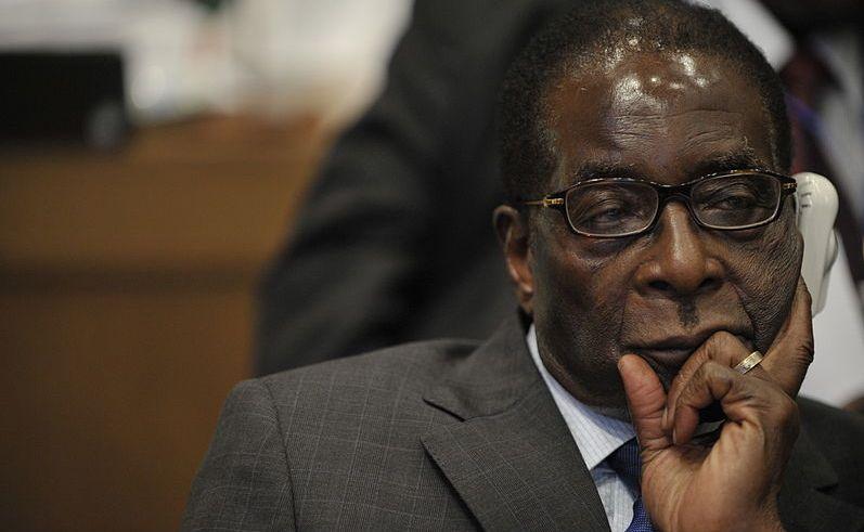 Robert Mugabe podczas szczytu państw afrykańskich w 2009 roku