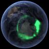 Świecący krąg w jonosferze nad Antarktydą