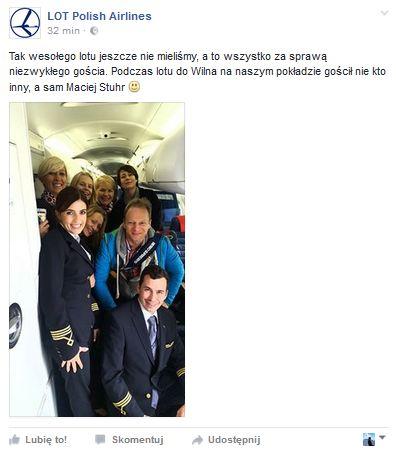 post z profilu LOT Polish Airlines