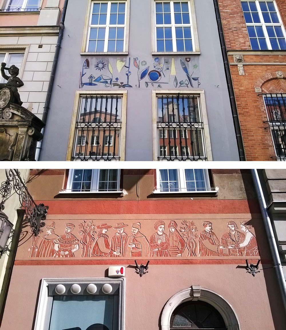 Fragmenty dekoracji fasad kamienic gdańśkiej starówki / fot. Tomasz Zucha/ Wydawnictwo BOSZ