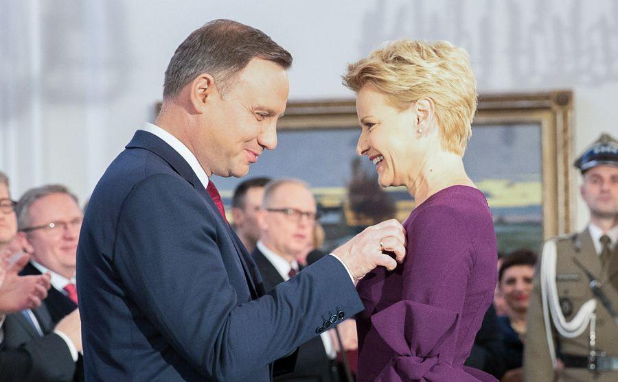prezydent Andrzej Duda i Małgorzata Kożuchowska / fot. Andrzej Hrechorowicz / KPRP