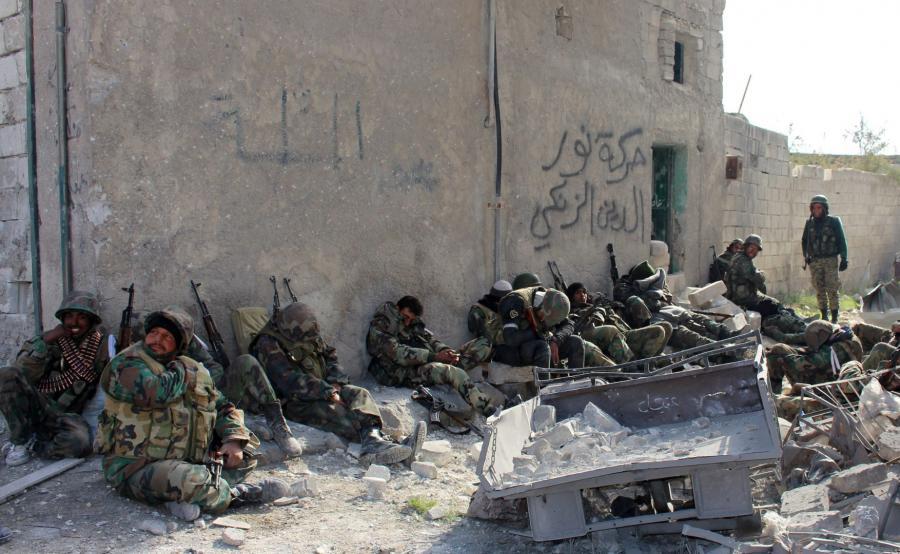 Syryjscy żołnierze w Aleppo
