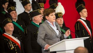 Beata Szydło i górnicy