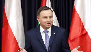 Andrzej Duda na konferencji w Betlejem