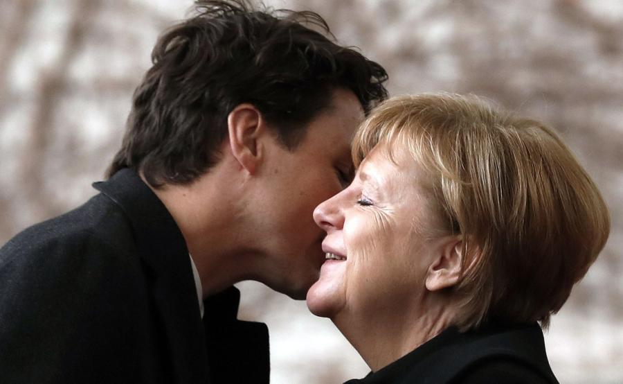 Justin Trudeau i Angela Merkel