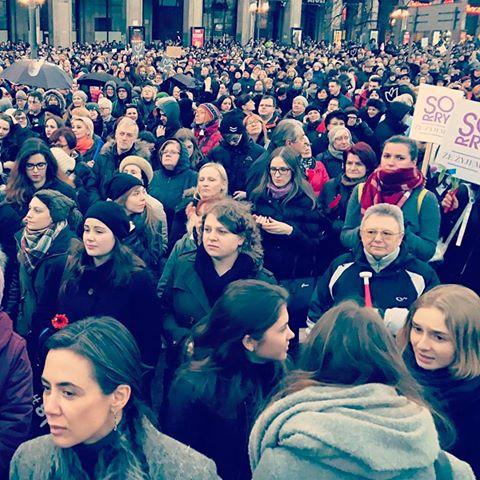 Kinga Rusin na Strajku Kobiet