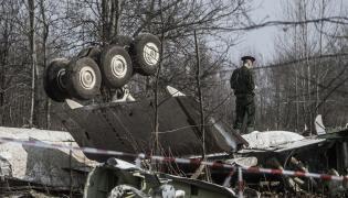 Wrak tupolewa rozbitego w katastrofie pod Smoleńskiem