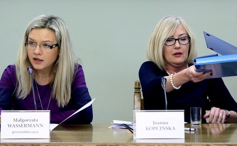 Małgorzata Wassermann i  Joanna Kopcińska